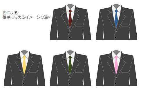リクルートスーツの色による相手に与えるイメージの違い